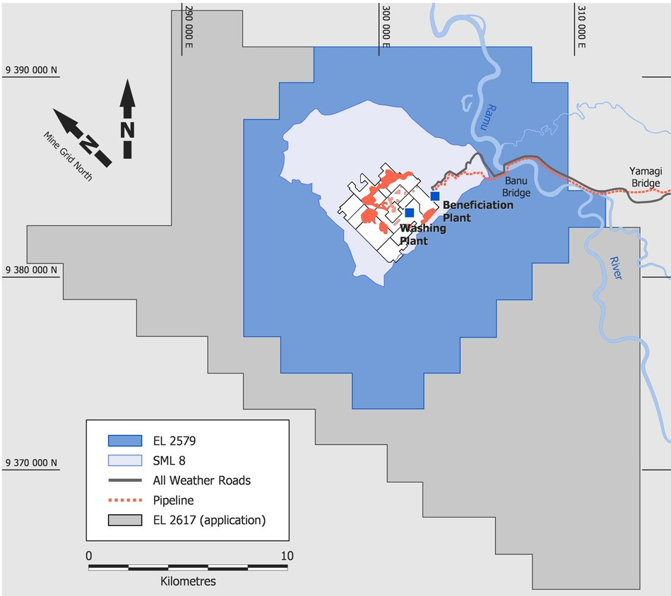 Figure 4: Ramu License Area and Surrounding Infrastructure (CNW Group/Cobalt 27 Capital Corp)