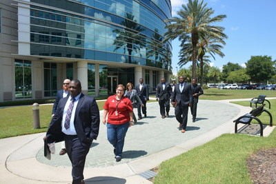 Veterans attend a Wounded Warrior Project career counseling event in Jacksonville.
