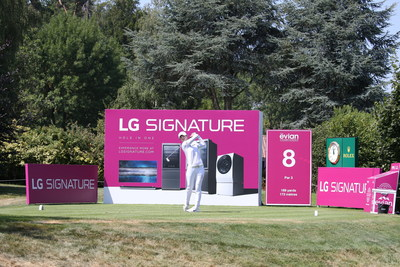 LG celebrates its third year as the official partner of 2019 Evian Championship highlighting LG SIGNATURE premium brand