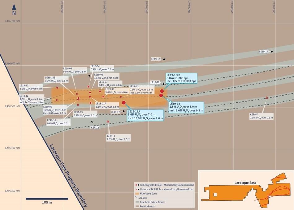 Figure 2 – Drill Hole Location Map (CNW Group/IsoEnergy Ltd.)