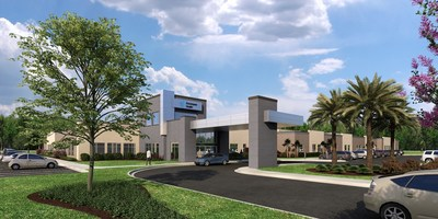 Rendering of the future Encompass Health inpatient rehabilitation hospital in Tampa Bay