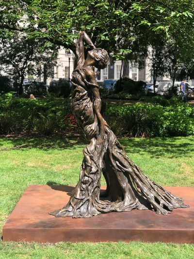 The 'Mother and Child' bronze sculpture, commissioned by Justice for Lai Dai Han, was installed in central London on 29th July 2019.