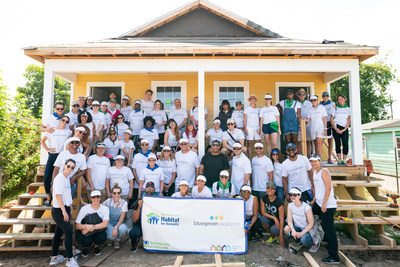 The Bluegreen Vacations-sponsored Habitat for Humanity build in the Lower Ninth Ward