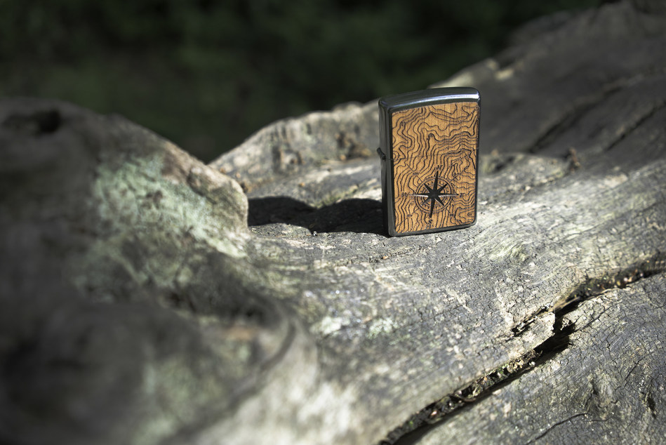 Compass from the Zippo Fight Fire with Fire collection, contributing to global reforestation efforts.