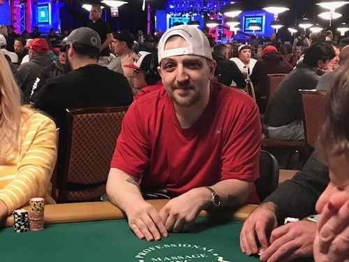 Kevin Roster playing in 2019 World Series of Poker (PRNewsfoto/Compassion & Choices)