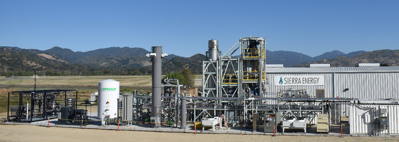 Sierra Energy's FastOx gasification facility at U.S. Army Garrison Fort Hunter Liggett in Monterey County, California.