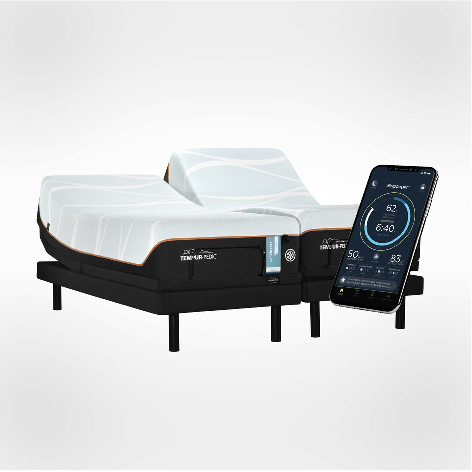 Take your sleep to the next level. The the newly unveiled TEMPUR-Ergo® Smart Bases now with Sleeptracker® technology silently sense and respond to you and your partner throughout the night — automatically.*