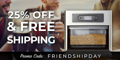 PicoBrew offers 25% off and free shipping on Z Series appliances for international customers in honor of World Friendship Day.