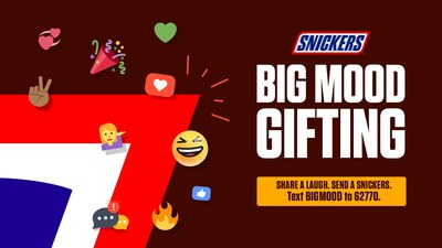 Beginning today and running through the end of September, fans can send a friend one of the videos along with a SNICKERS® Bar by texting BIG MOOD to 62770, scanning the QR code found on 'Big Mood' displays in Walmart stores across the country, or by visiting www.snickersbigmood.com.