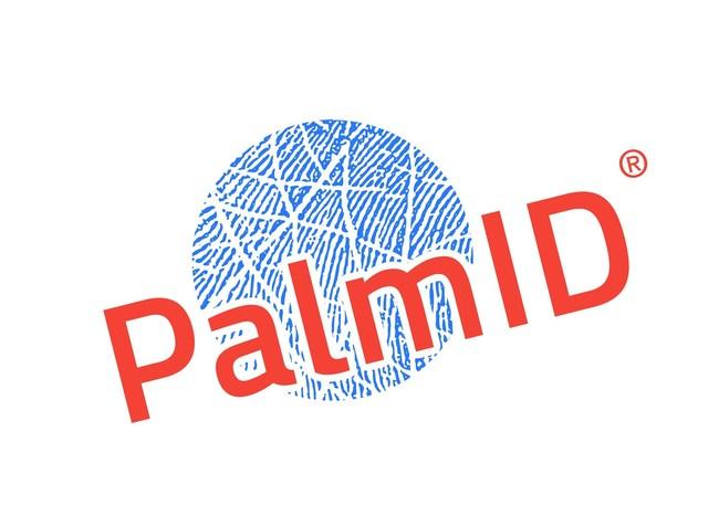 PalmID(R) logo: developed by Redrock Biometrics https://www.redrockbiometrics.com/