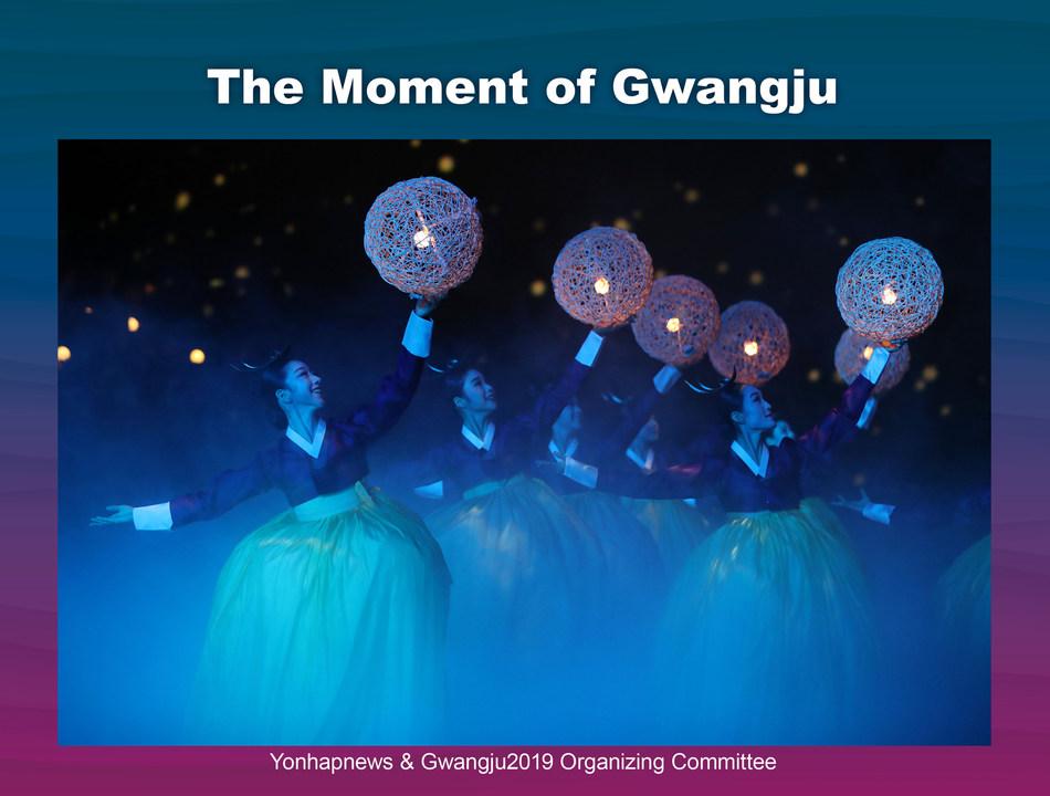 The closing ceremony of the FINA World Championships Gwangju 2019