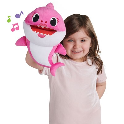 Pinkfong Baby Shark Song Puppets with Tempo Control available now at retailers nationwide. Available in Mommy, Daddy and Baby Shark, by WowWee.