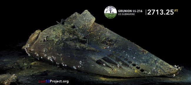 USS Grunion Bow Section (PRNewsfoto/Lost 52 Project)