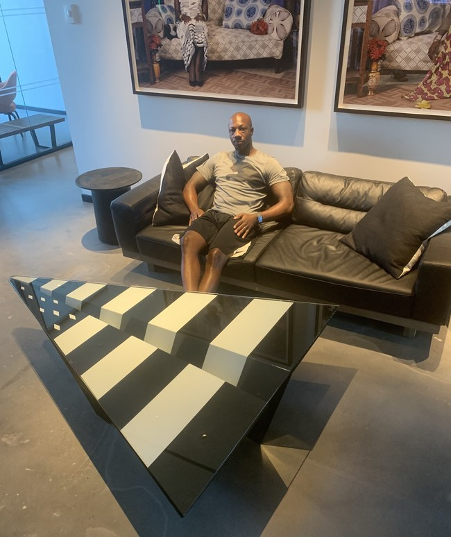 Mogul Aundrey Ricks Inside Roc Nation Headquarters in New York, NY