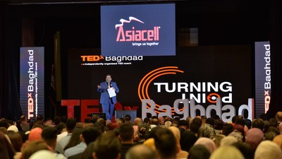 Asiacell is always the main sponsor for TEDx events in Iraq (PRNewsfoto/Asiacell PJSC, Public Relations)