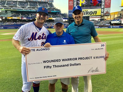 Alonso announced he'd donate $50,000 to Wounded Warrior Project®.