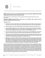 MEG Energy 2Q19 News Release July 30, 2019 (CNW Group/MEG Energy Corp.)