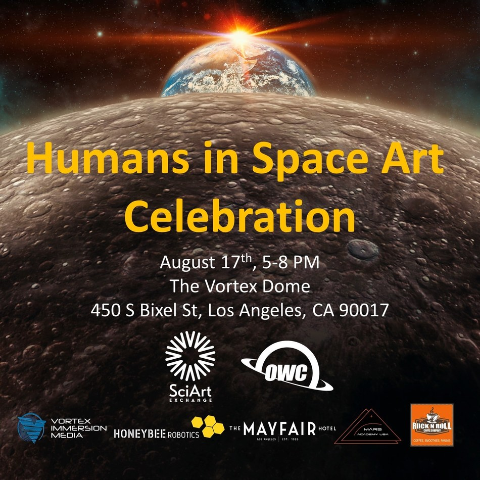 OWC will sponsor the Humans in Space Art Celebration in Los Angeles on August 17.