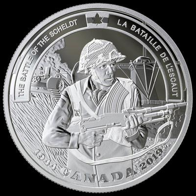 加拿大皇家造币厂发行新的斯海尔德河战役75周年纪念币