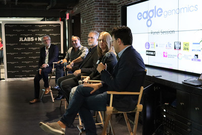 """Industry experts from Unilever, Janssen, Microsoft and ETF Partners discuss """"Will the microbiome revolution happen?"""" at the US launch of Eagle Genomics in New York."""