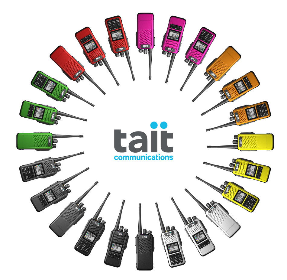 The Tait TP3 series is a unique, highly customizable portable radio! (CNW Group/Allcan Distributors)