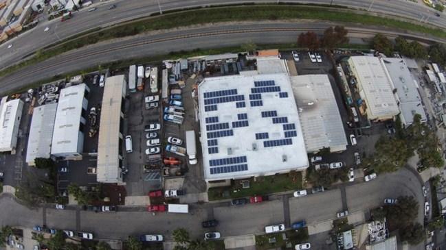Palomar Solar's own rooftop installation - headquarters in Escondido, CA