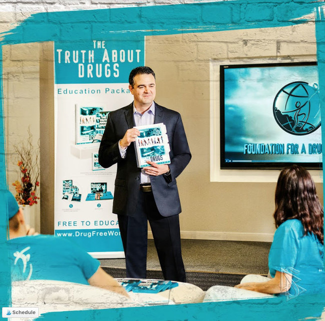 Through seminars, presentations and educational materials, Darren has reached an estimated 3.1 million students with the truth about drugs.