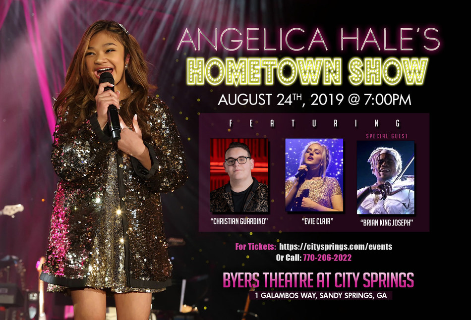 Atlanta, GA - Angelica Hale's Hometown Show on Saturday, August 24, 2019 featuring Christian Guardino, Evie Clair, Brian King Joseph, and Angelica Hale.