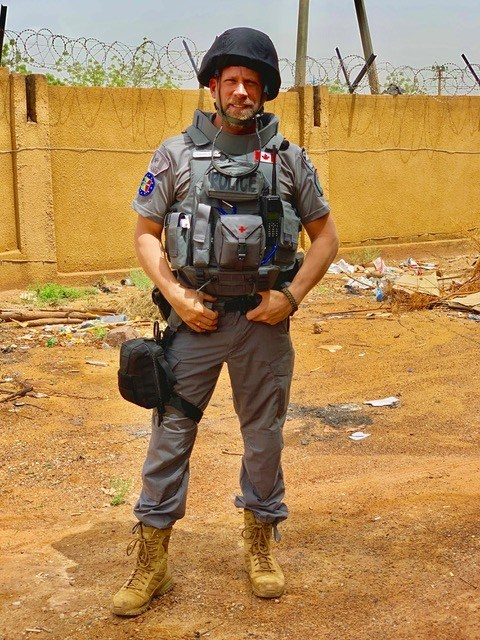 Sgt. Hamelin in Bamako, Mali (Credit: RCMP-GRC) (CNW Group/Royal Canadian Mounted Police)