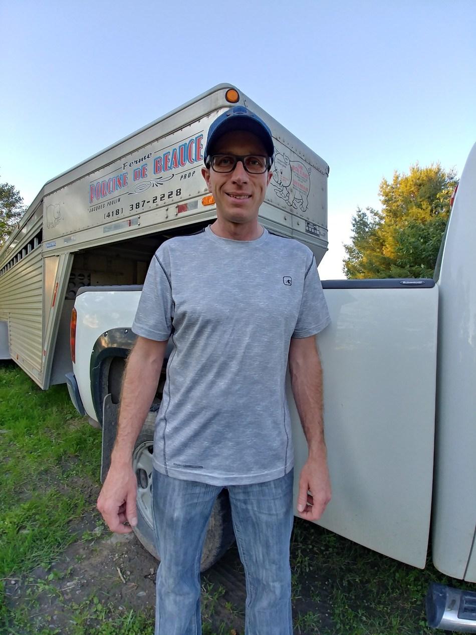 Michel Dutil, Ferme Porcine de Beauce (Groupe CNW/La Financière agricole du Québec)
