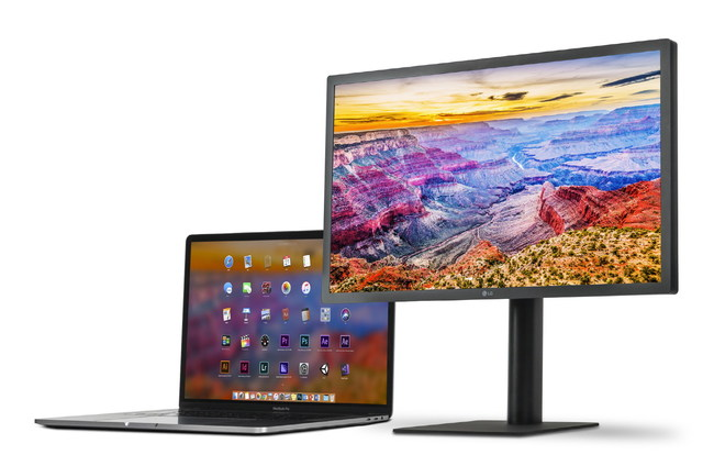 LG's new 27-inch UltraFine 5K Display which, along with the company's 24-inch UltraFine 4K Display, gives consumers two high-quality monitors that are designed specifically for the latest Apple products.