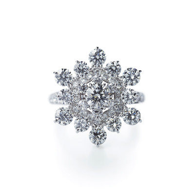 HANAYUKI Ring, 18k White Gold, Diamond