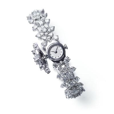 HANAYUKI Cocktail Watch, 18k White Gold, Diamond