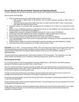 Encana Reports 2019 Second Quarter Financial and Operating Results (CNW Group/Encana Corporation)