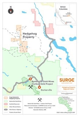Surge Exploration Commences Fieldwork at its Copper Gold Project near Barkerville BC - Hedge Hog Property