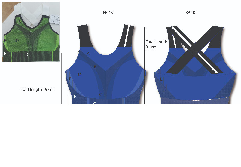 Original presentation of IKAR's active wear in 2D