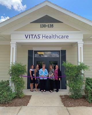VITAS Lake-Sumter leadership team, from left: Lisa Maria Tartaglia, DO, medical director; Jade Herron, director of marketing development; Jillian Madsen, general manager; Chantal Morey, associate general manager, and Yvonne Greenlee, patient care administrator