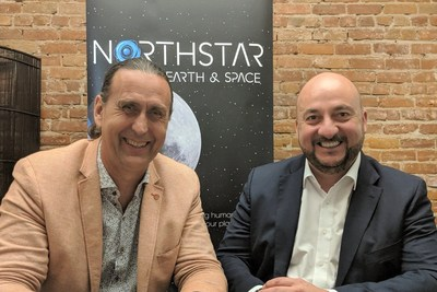 NorthStar Earth & Space CEO, Stewart Bain with Luxembourg's Deputy Prime Minister, Minister of the Economy, Étienne Schneider. (CNW Group/NorthStar Earth & Space Inc.)