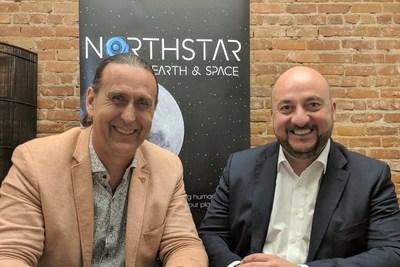 Le PDG de NorthStar Earth & Space, Stewart Bain, en compagnie du Vice-Premier ministre et ministre de l'Économie du Luxembourg, Étienne Schneider. (CNW Group/NorthStar Earth & Space Inc.)