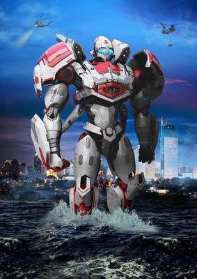 Pacific Rim's new Mark VII Jaegar, Storm Garuda. The new jaegar makes it's debut in the Pacific Rim: Shatterdome Strike Attraction 3D film.