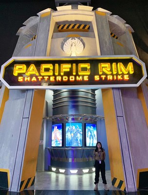 The Pacific Rim: Shatterdome Strike Attraction Entrance at Trans Studio Cibubur Theme Park in Indonesia