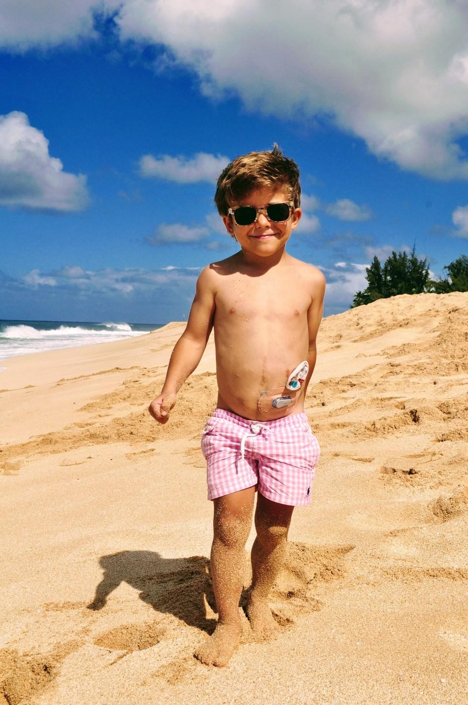 Wish Kid Maksim During His Transformational Make-A-Wish Trip to Hawaii