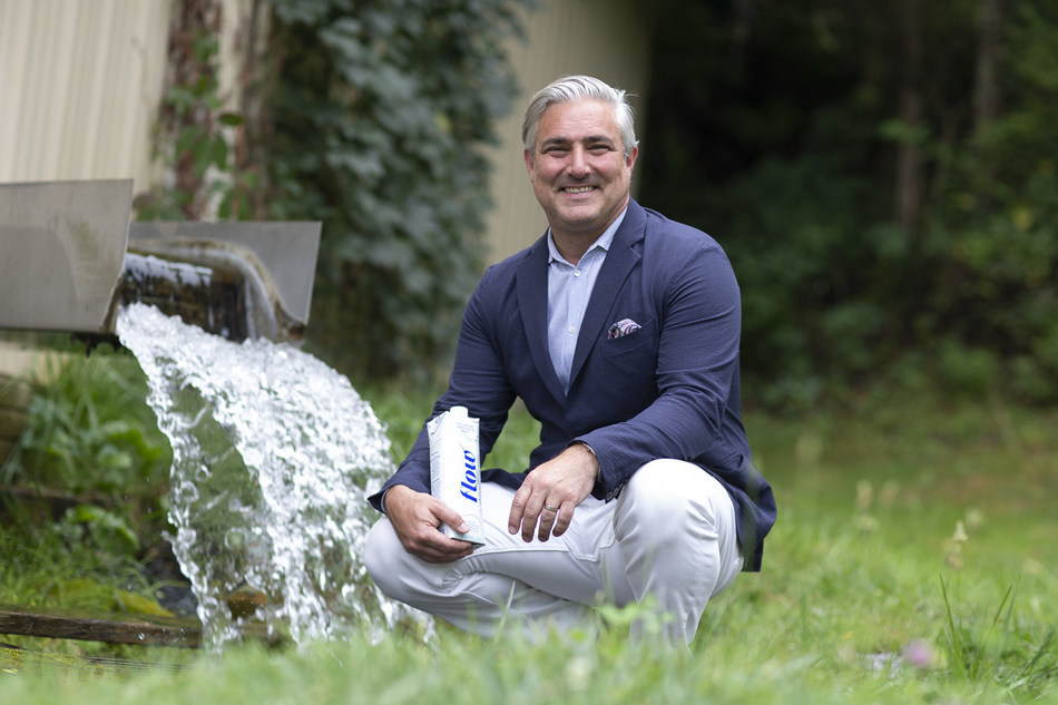 Nicholas Reichenbach, Flow Alkaline Spring Water's CEO and Founder at the new US spring in Verona, VA