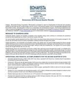 Bonavista Energy Corporation Announces 2019 Second Quarter Results (CNW Group/Bonavista Energy Corporation)