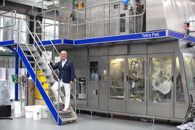 Nicholas Reichenbach, fondateur et chef de la direction de Flow Alkaline Spring Water, à la nouvelle installation des États-Unis en Virginie