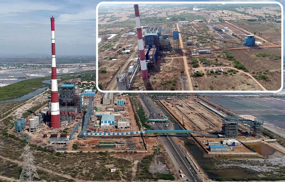 Tuticorin and Nagai Thermal Power Plant Aerial View