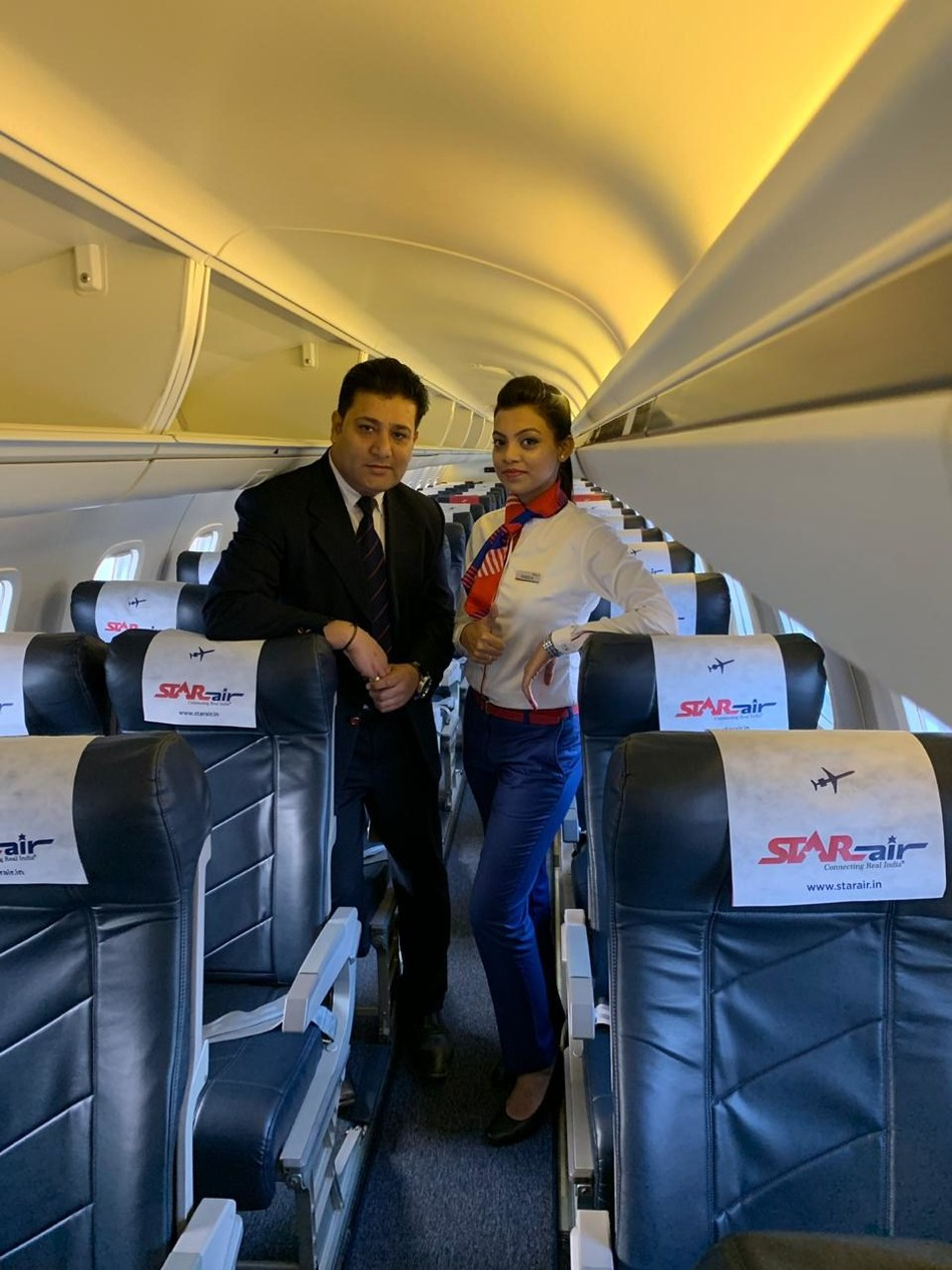 Star Air, the best in class interiors, comfort, legroom and service. Received the appreciation from travelers