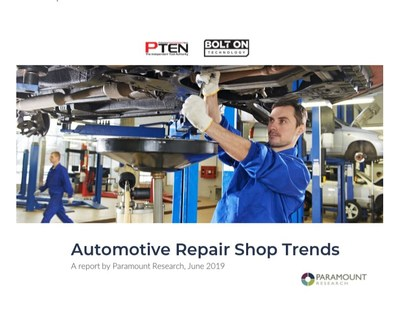 Automotive Repair Shop Trends Survey by PTEN and BOLT ON TECHNOLOGY