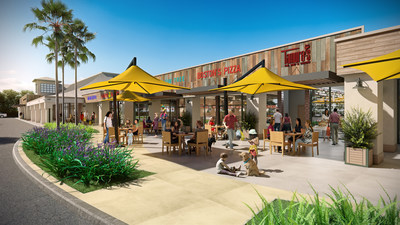 The $18 million renovation of Aikahi Park Shopping Center includes improvements to landscaping, walkways and the parking lot, along with the creation of new outdoor seating areas.