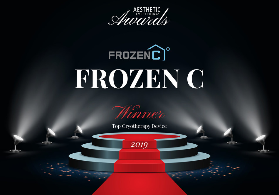 """FROZEN C wins """"Top Cryotherapy Device"""" in the 2019 Aesthetic Everything® Aesthetic and Cosmetic Medicine Awards."""